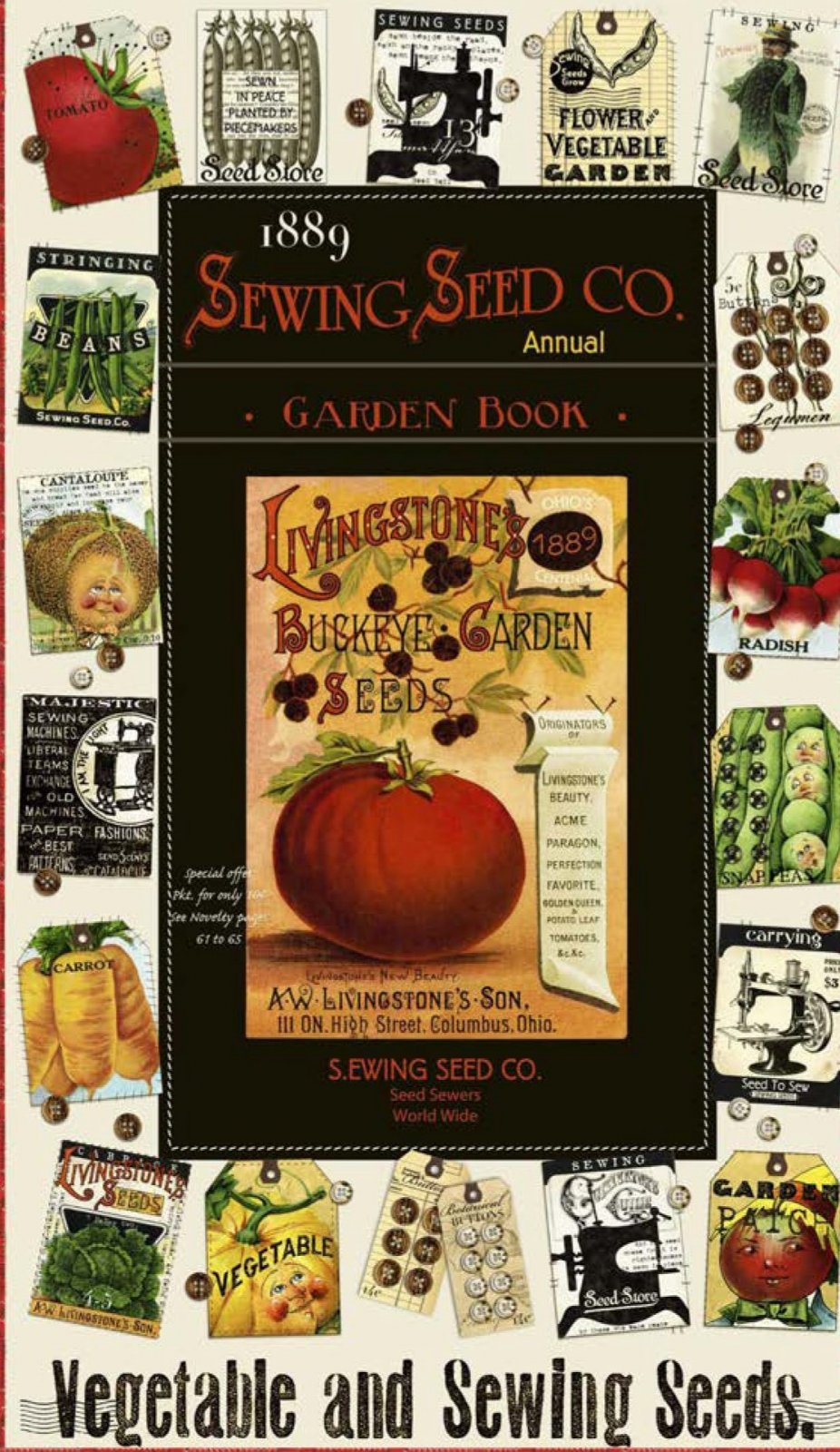 Vegetable and Sewing Seeds Panel