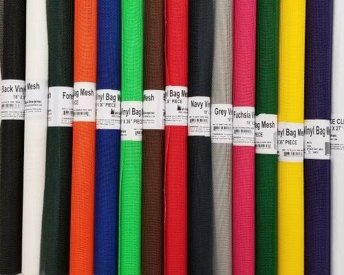 Vinyl Coated Mesh Roll 18 x 36 - Various Colors