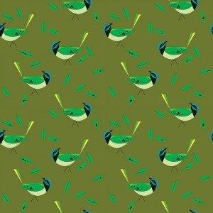 Charley Harper - Western Birds / Green Jay