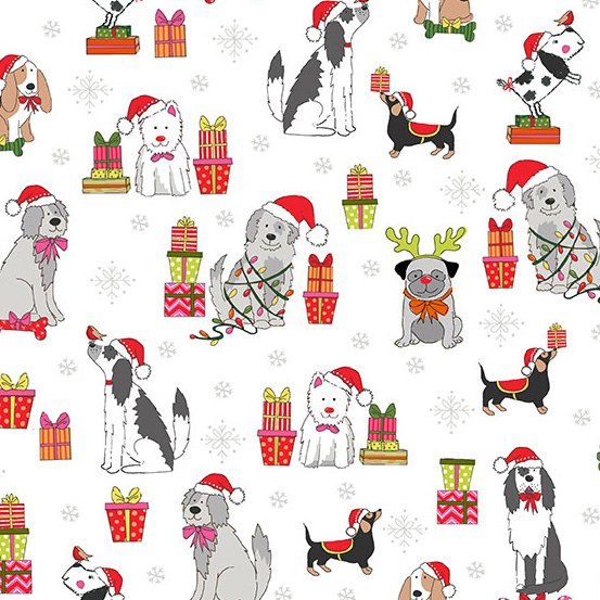 Yappy Christmas - Dog Scatter / White
