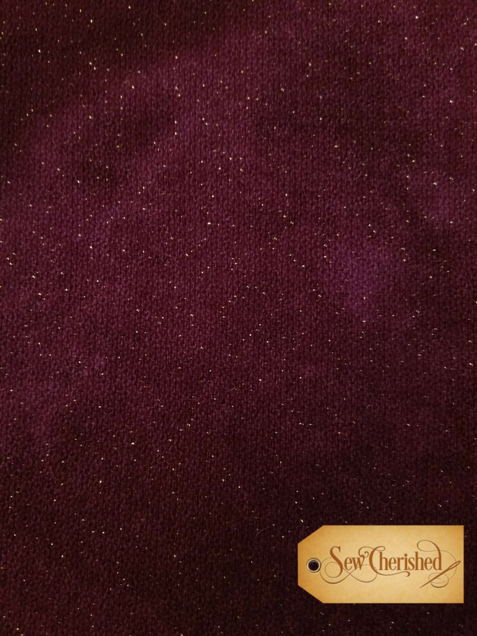 Plum Glitter Wool