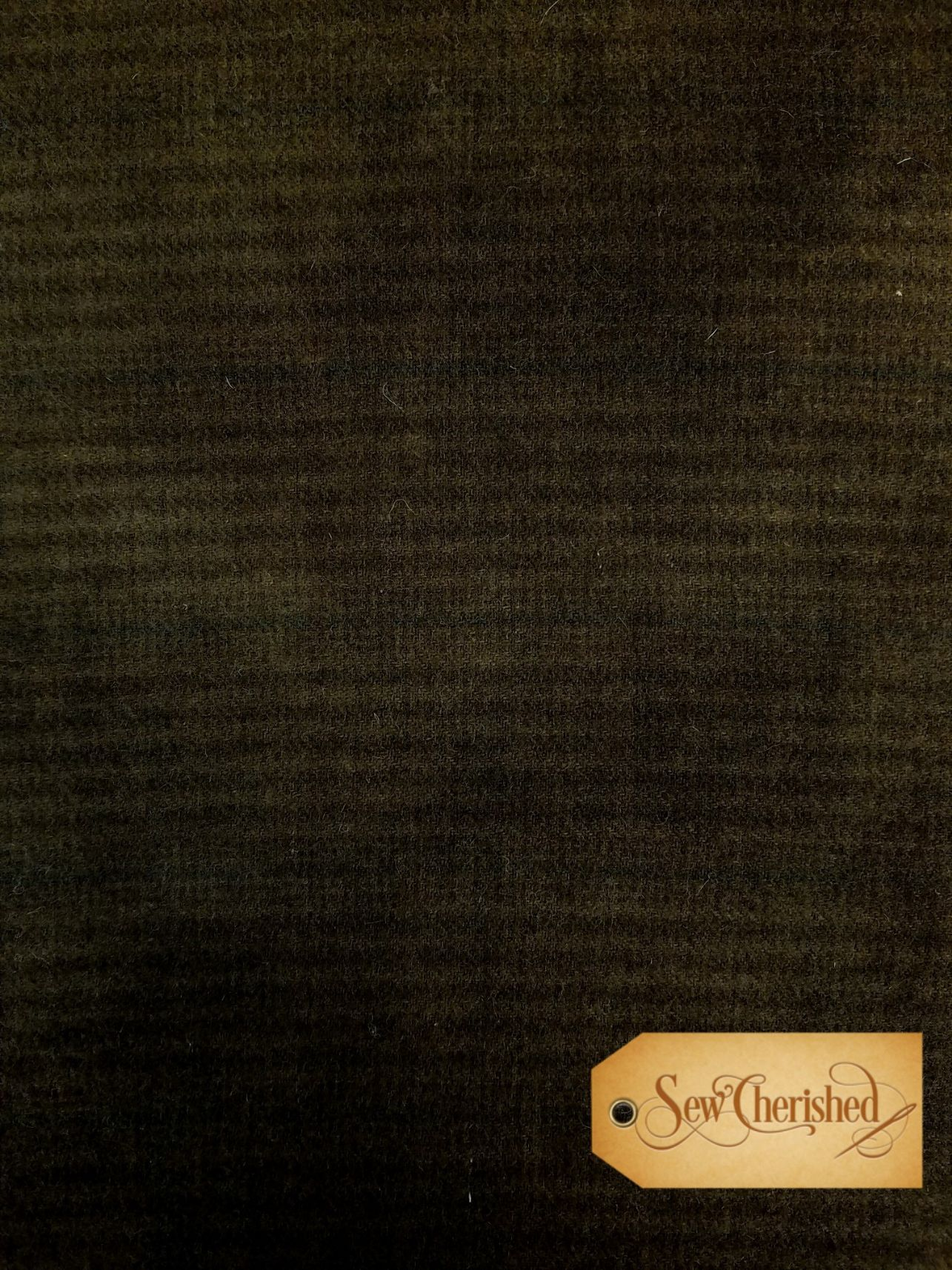 Dark Brown Stripe Wool