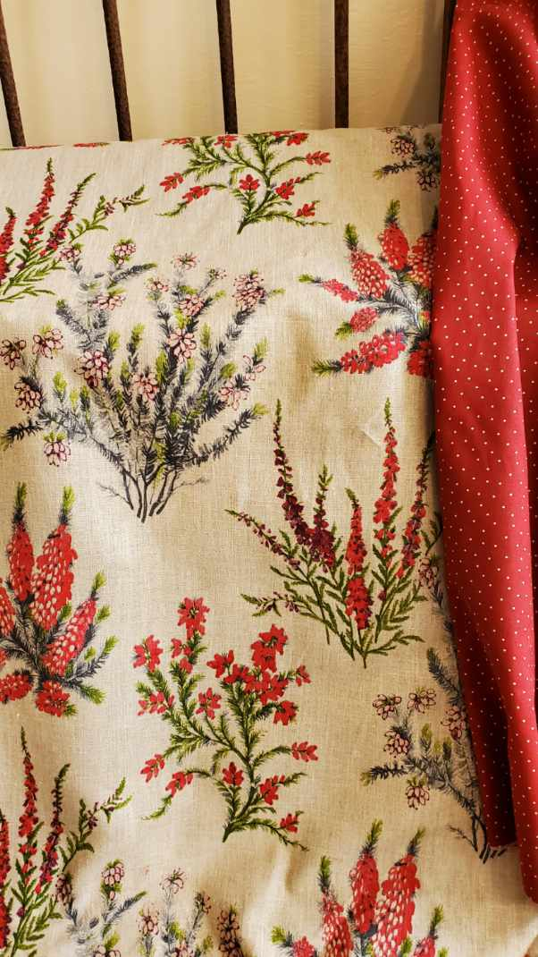 French floral linen