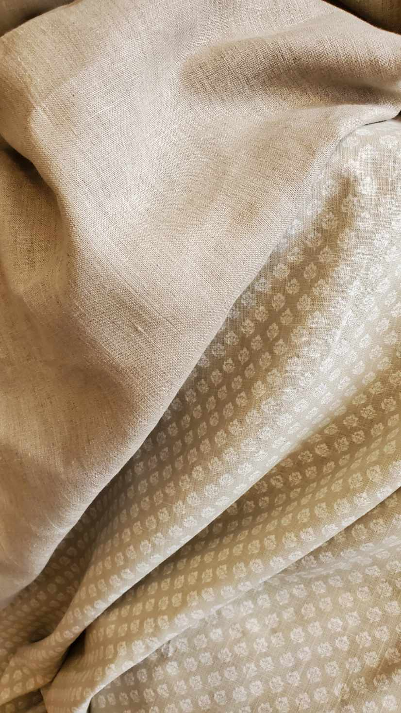 French Taupe Linen Plain
