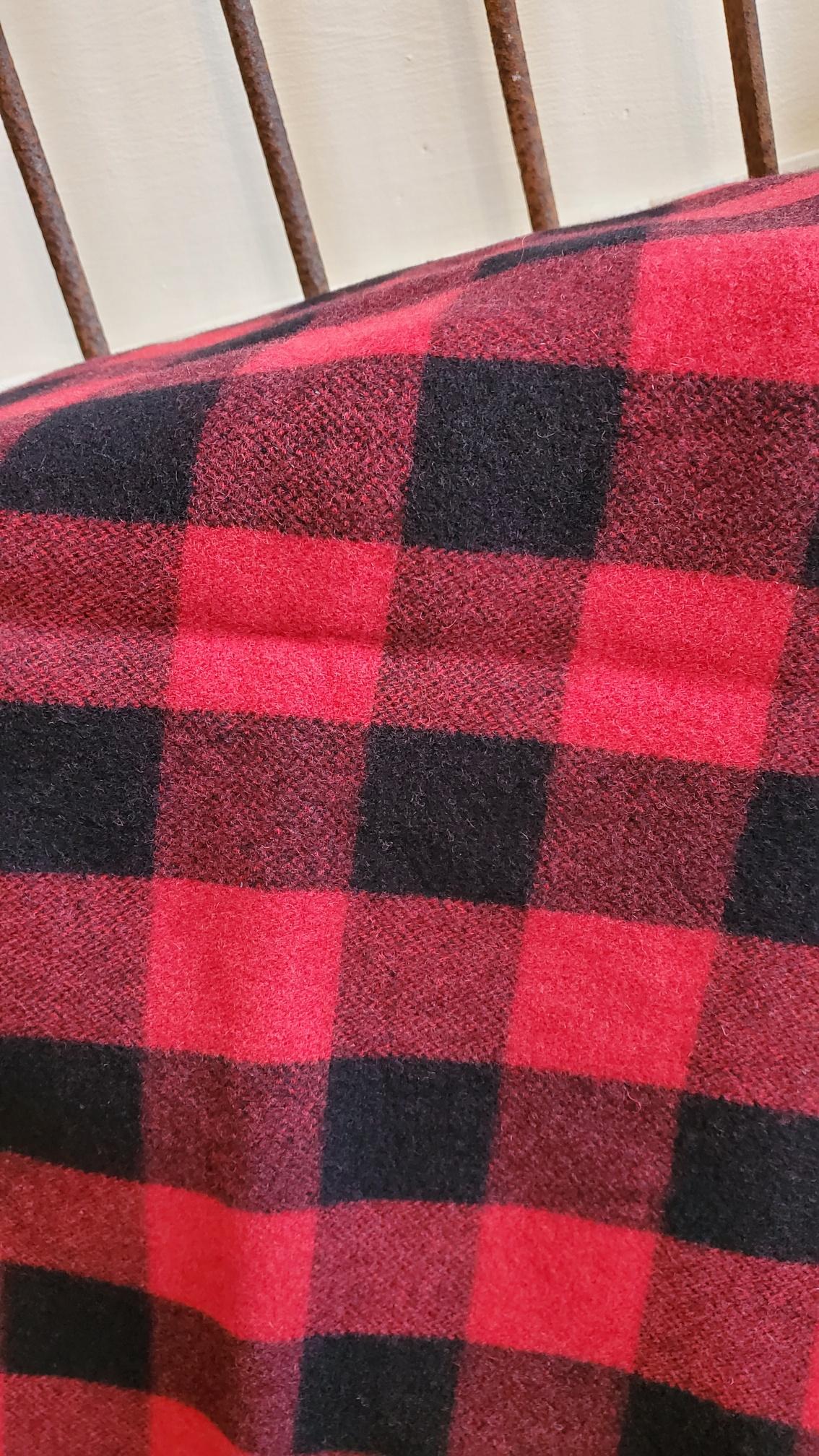 100% wool Buffalo Plaid