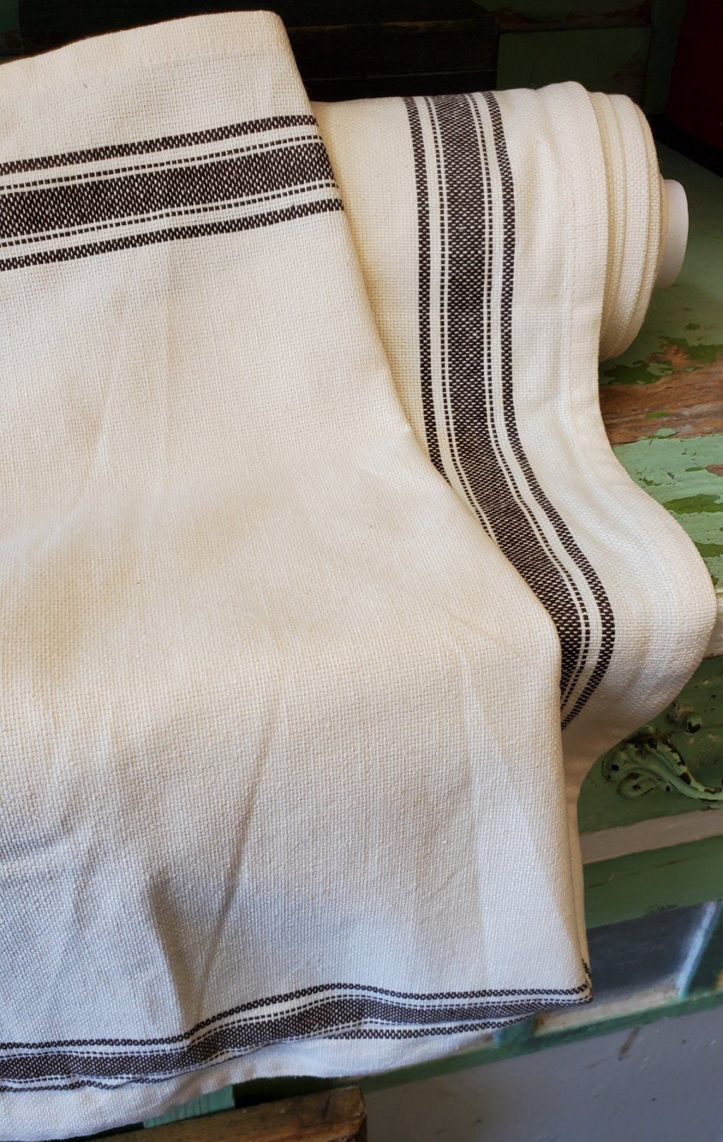 Black Striped Toweling