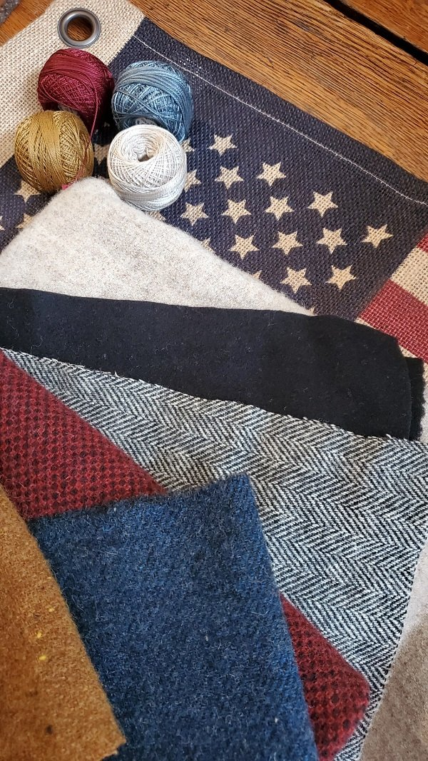 Red, White & Wool Mystery Kit with pattern