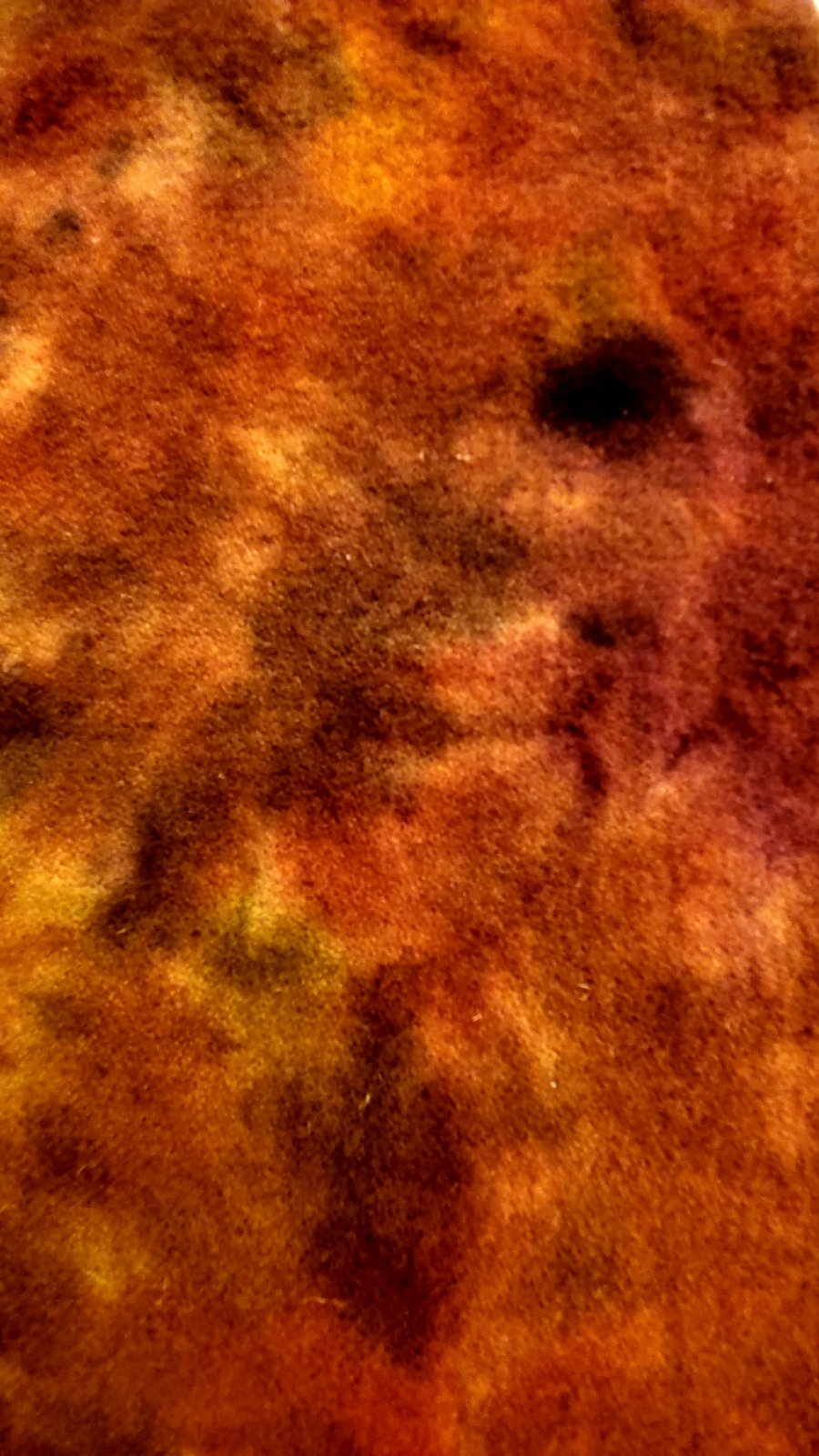 Rust and brown spot dyed wool fat quarter