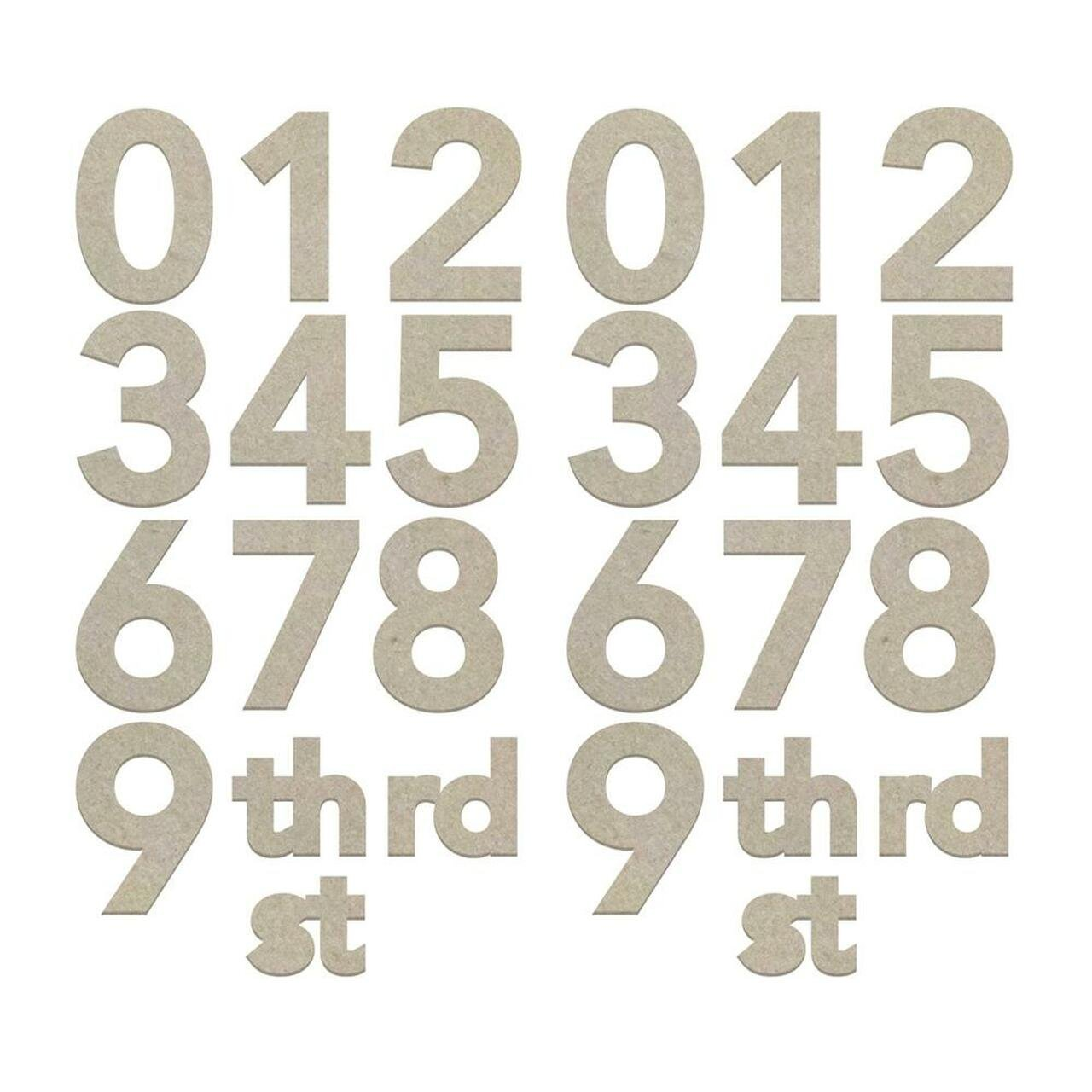 Chipboard Large Numbers