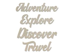 Adventure Sentiment Chipboard Set