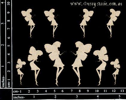 Mini Fairies  chipboards