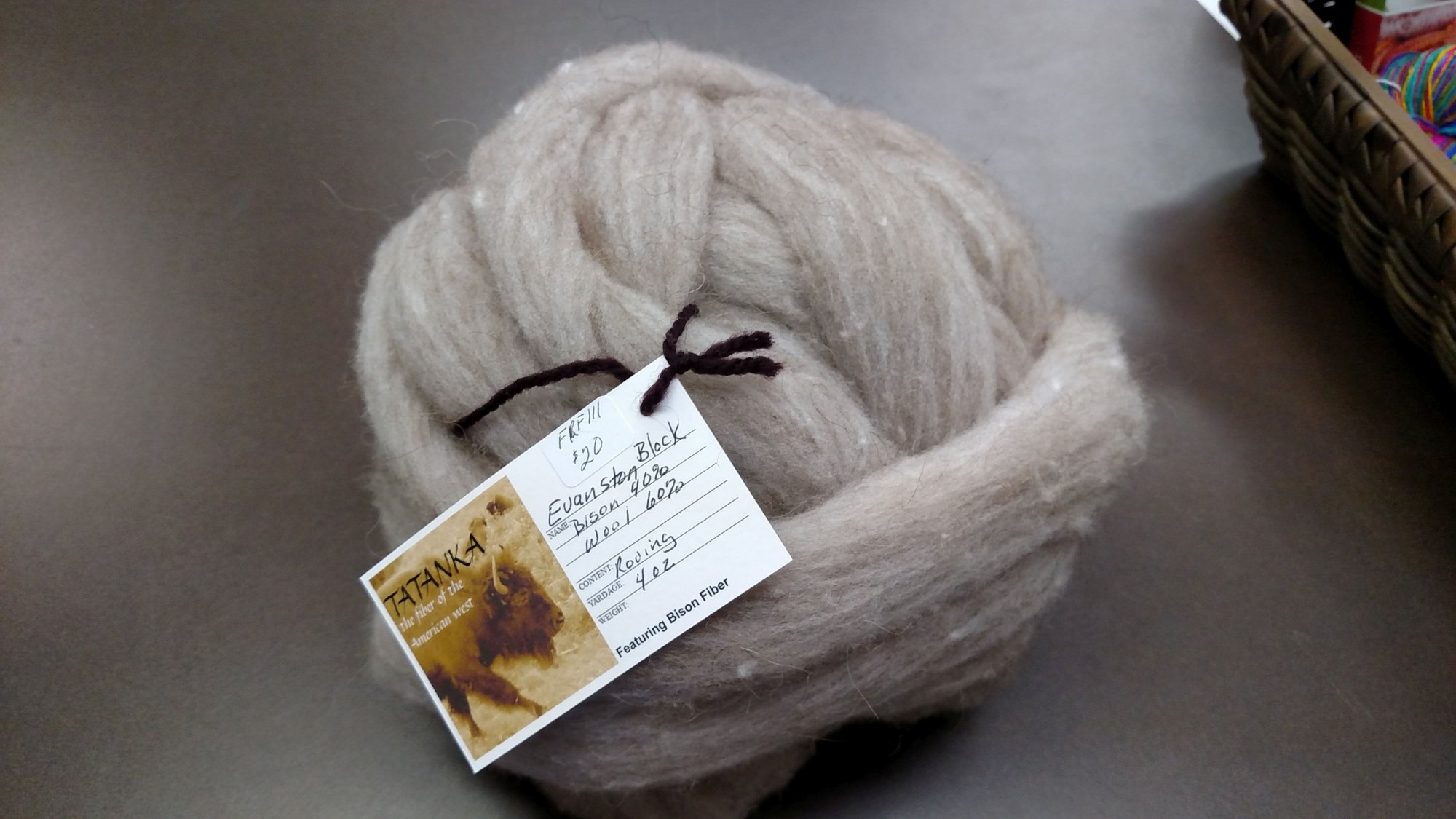 Roving Bison - 40 / Wool 60 4 Oz Evanston Block