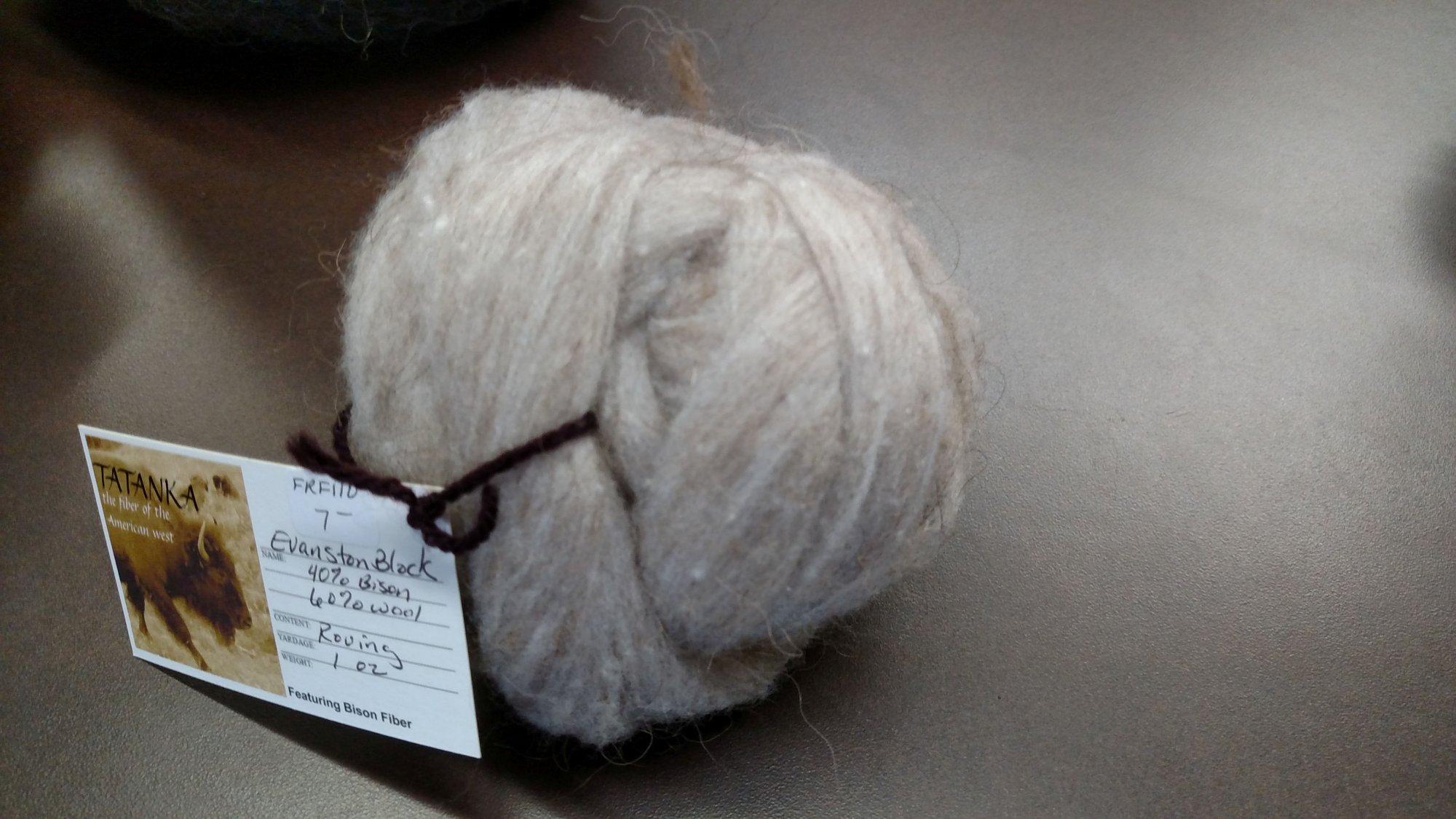 Roving Bison - 40 / Wool 60 1 Oz Evanston Block