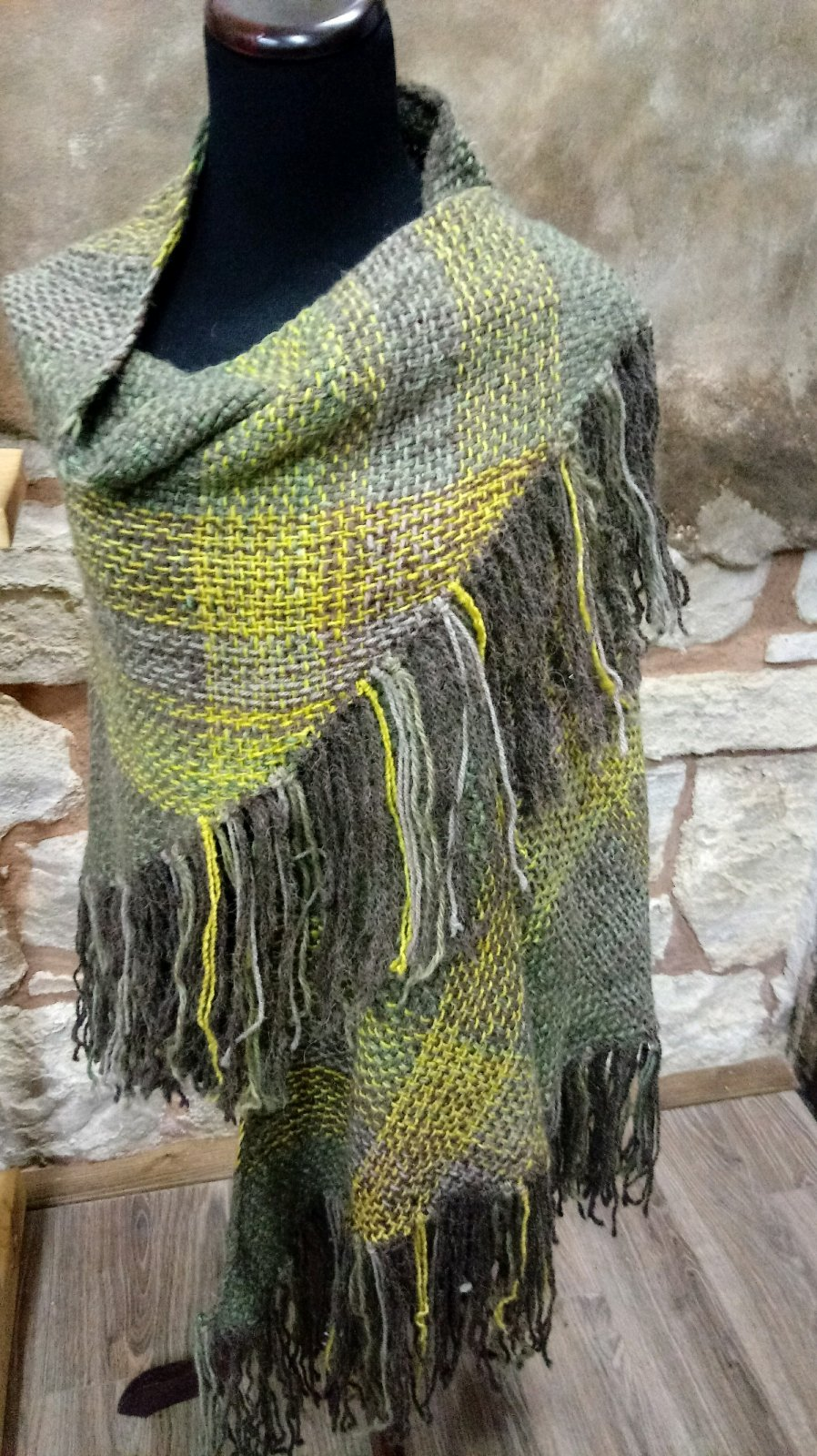 Woven Bison Shawl - Summer in the Park