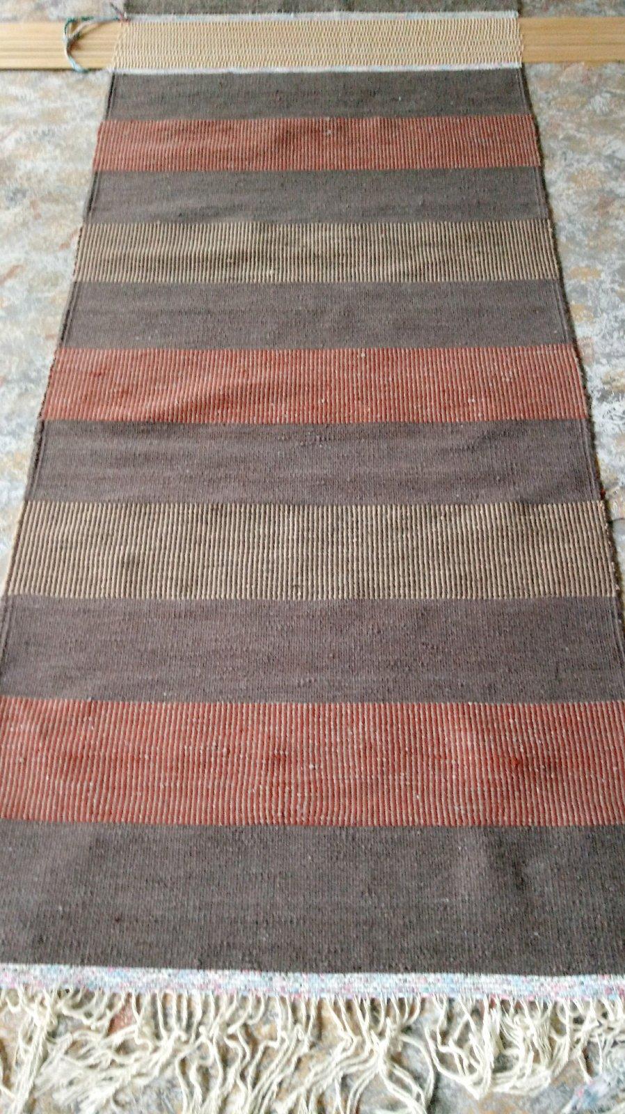 Bison Stripes Rug 3'X6.5' Wool BisonBlend