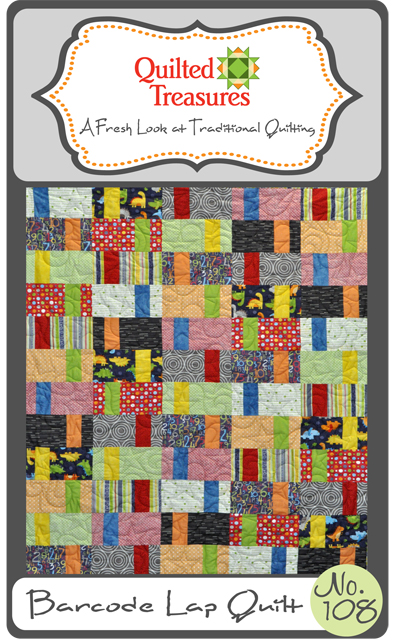 108: Barcode Lap Quilt Pattern