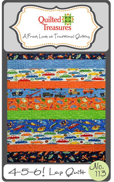 113: 4-5-6! Lap Quilt Pattern