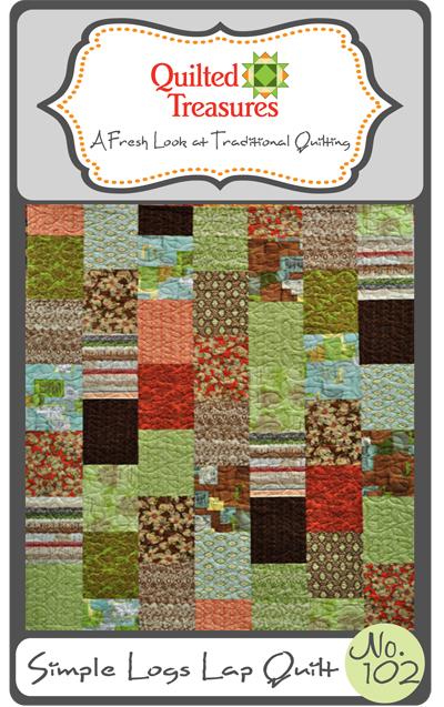 102: Simple Logs Lap Quilt Pattern