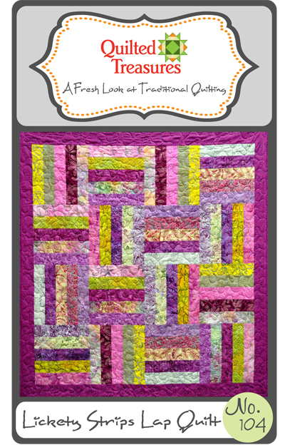 104: Lickety Strips Lap Quilt Pattern