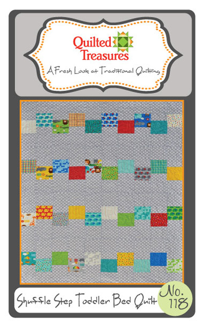 118: Shuffle Step Toddler Bed Quilt Pattern