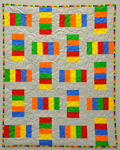 Five and Dime Quilt Kit: Primary