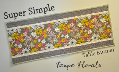 Super Simple Runner Kit: Taupe Flowers