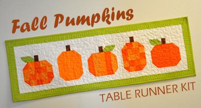 Fall Pumpkins Table Runner Kit