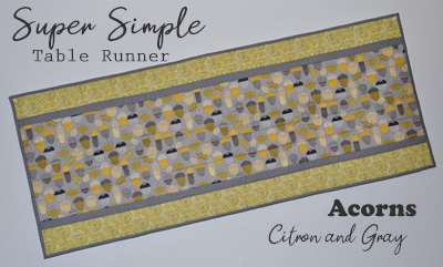 Super Simple Runner Kit: Acorns