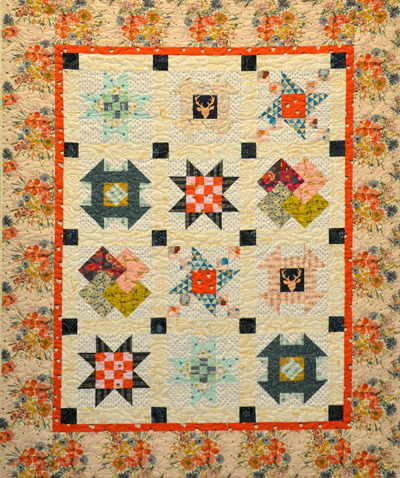 Traditional Sampler Quilt Kit: Fiesta Florals
