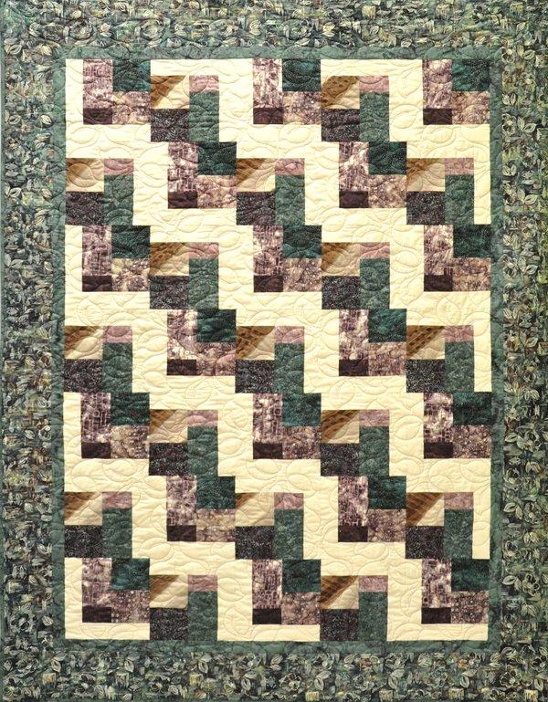 Batik Tiles Quilt Kit: Plum + Teal