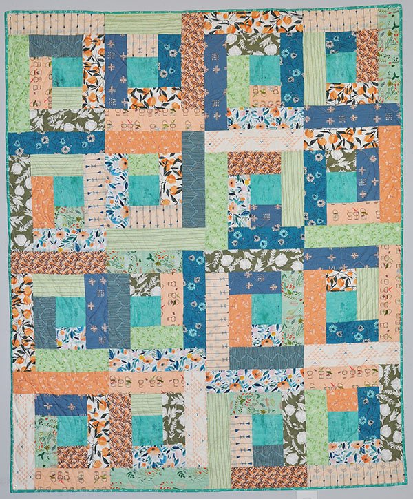 Beach Bum Quilt Kit: Coral and Mint