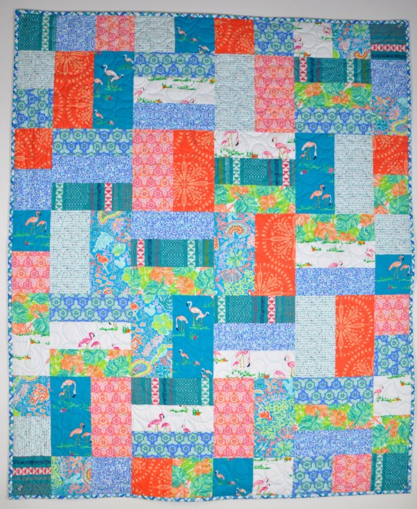 Busy Bee Quilt Kit: Flamingo Palm