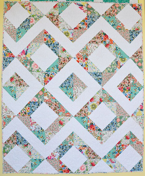 Floral Triangle Quilt Kit