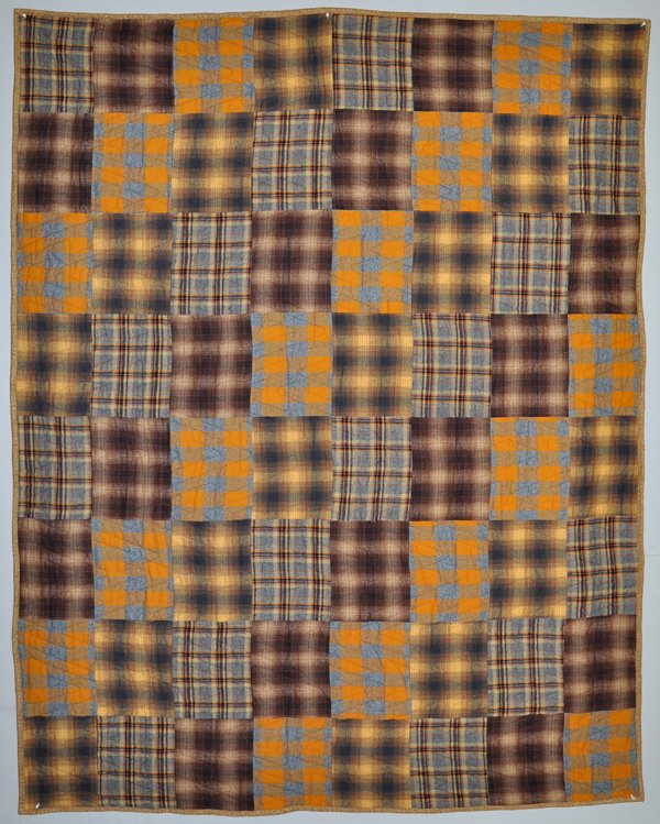 Four On The Floor Flannel Quilt Kit: Gold & Brown