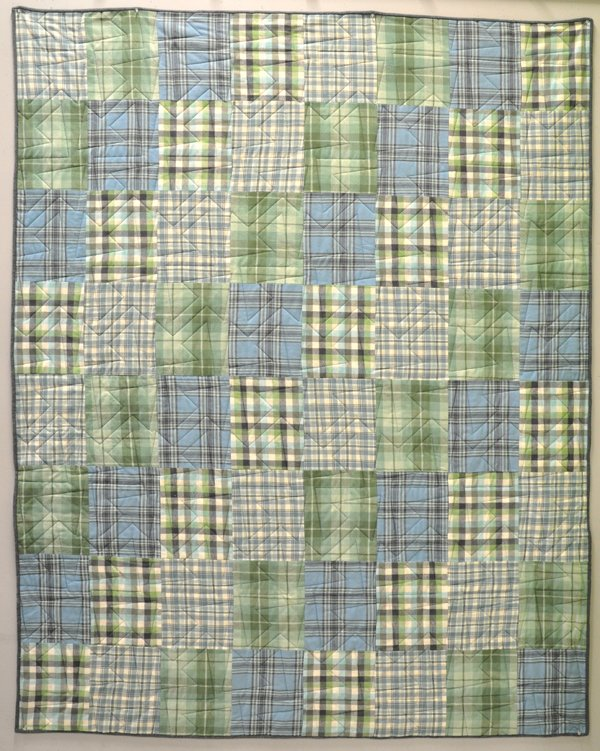 Four On The Floor Flannel Quilt Kit: Organic Cottons