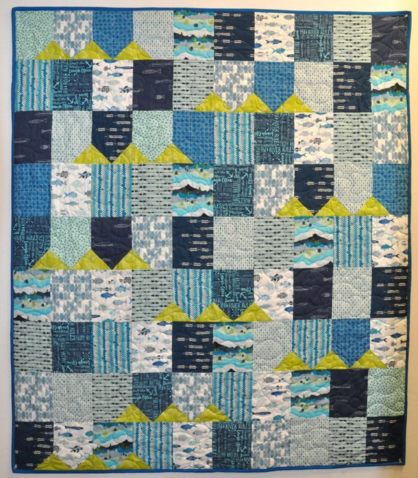 Gator Party Quilt Kit: FISH
