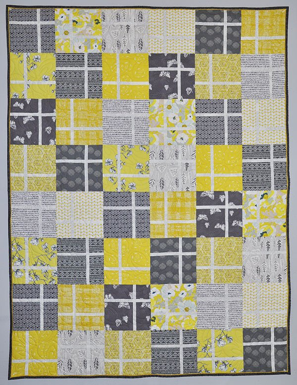 It's My Birthday Quilt Kit: Citron and Gray