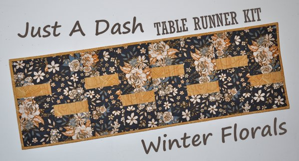 Just A Dash Table Runner Kit: Winter Florals