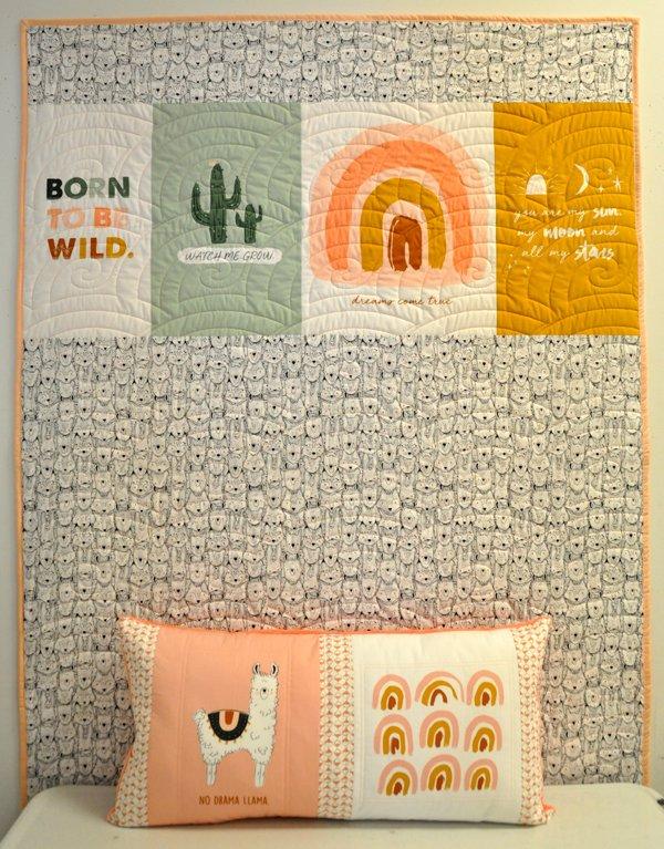 I Love You Llama Panel Kit