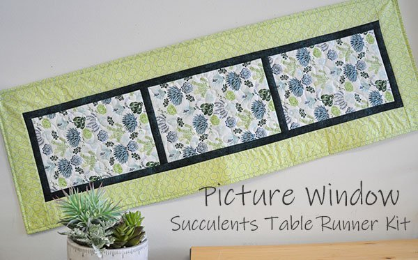 Picture Window Table Runner Kit: Succulents