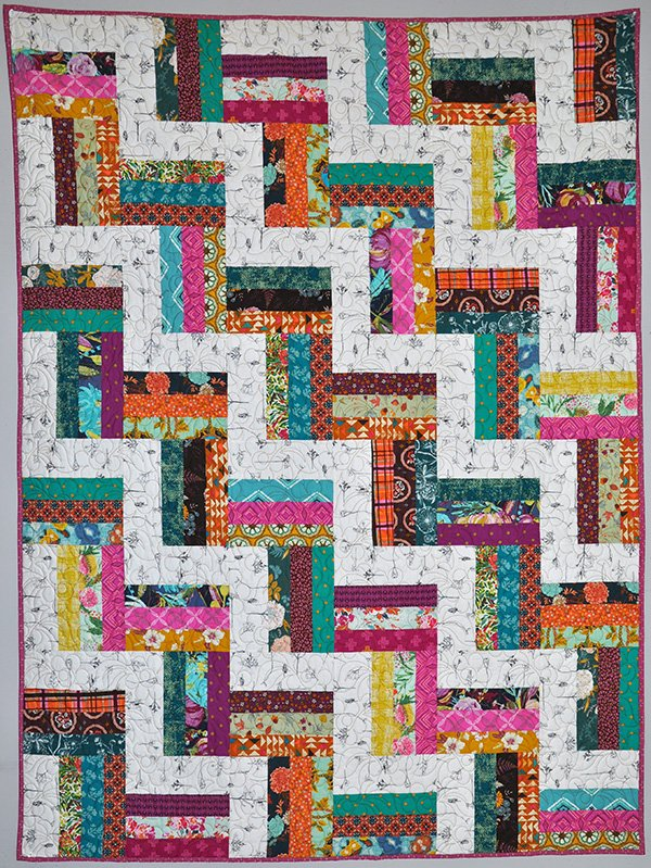 Polka Quilt Kit: Bright and Bold