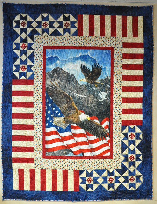 Quilts of Valor 7 Panel Quilt