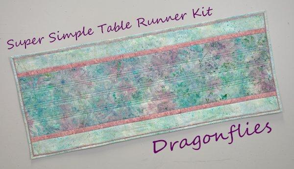 Super Simple Table Runner Kit: Dragonflies