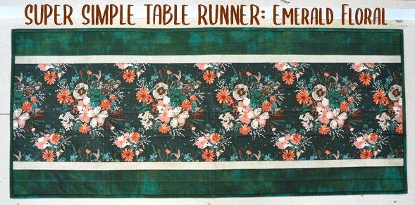 Super Simple Runner Kit: Emerald Florals