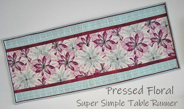 Super Simple Table Runner Kit: Pressed Flowers