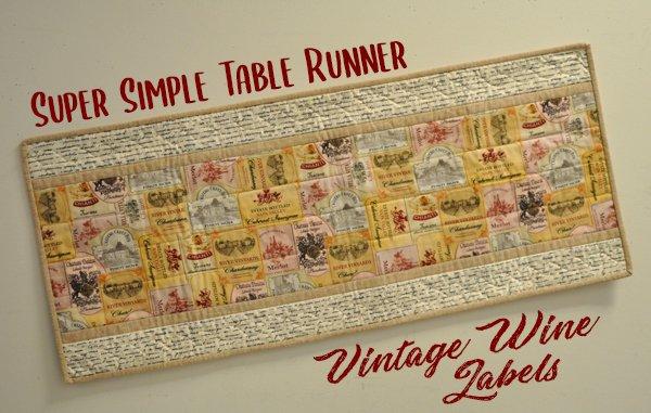 Super Simple Runner Kit: Vintage Wine Labels