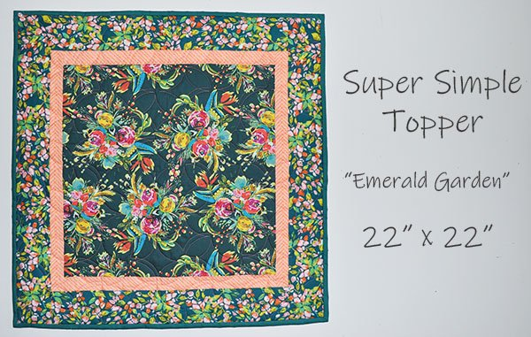 Super Simple Topper: Emerald Garden