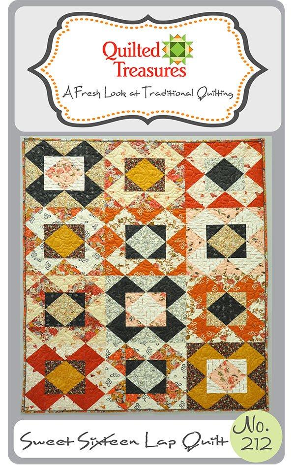 212: Sweet Sixteen Lap Quilt Pattern