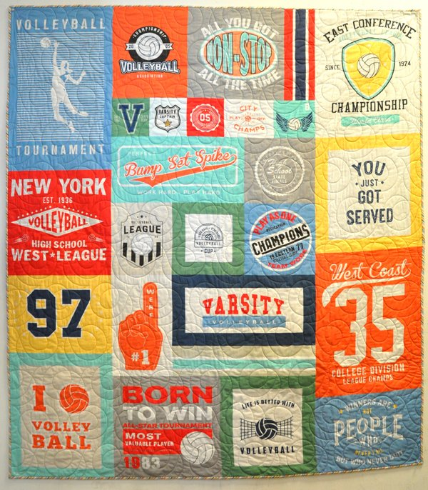Volleyball Panel Quilt Kit