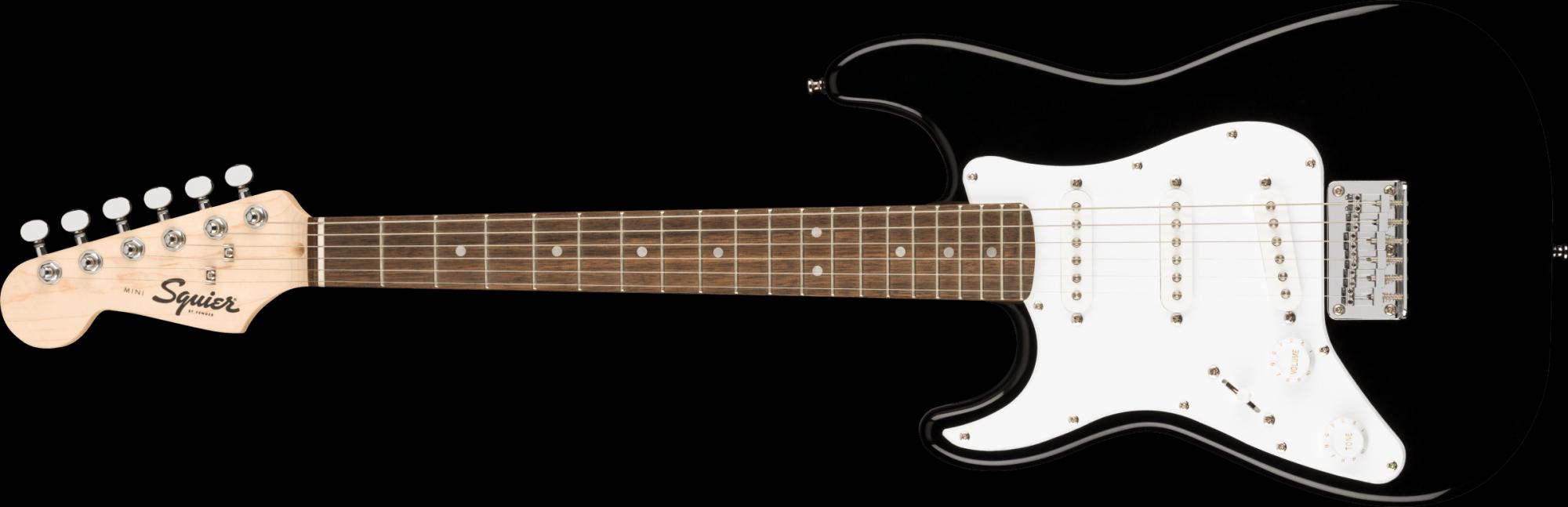 Fender/Squier Mini Stratocaster Left-Handed, Laurel Fingerboard, Black